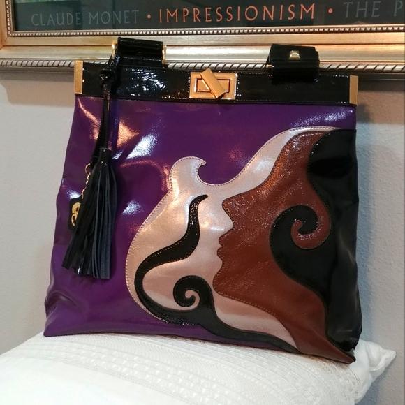 Rare! Sharif face design handbag